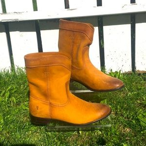FRYE ankle boot warm golden brown 8.5 New
